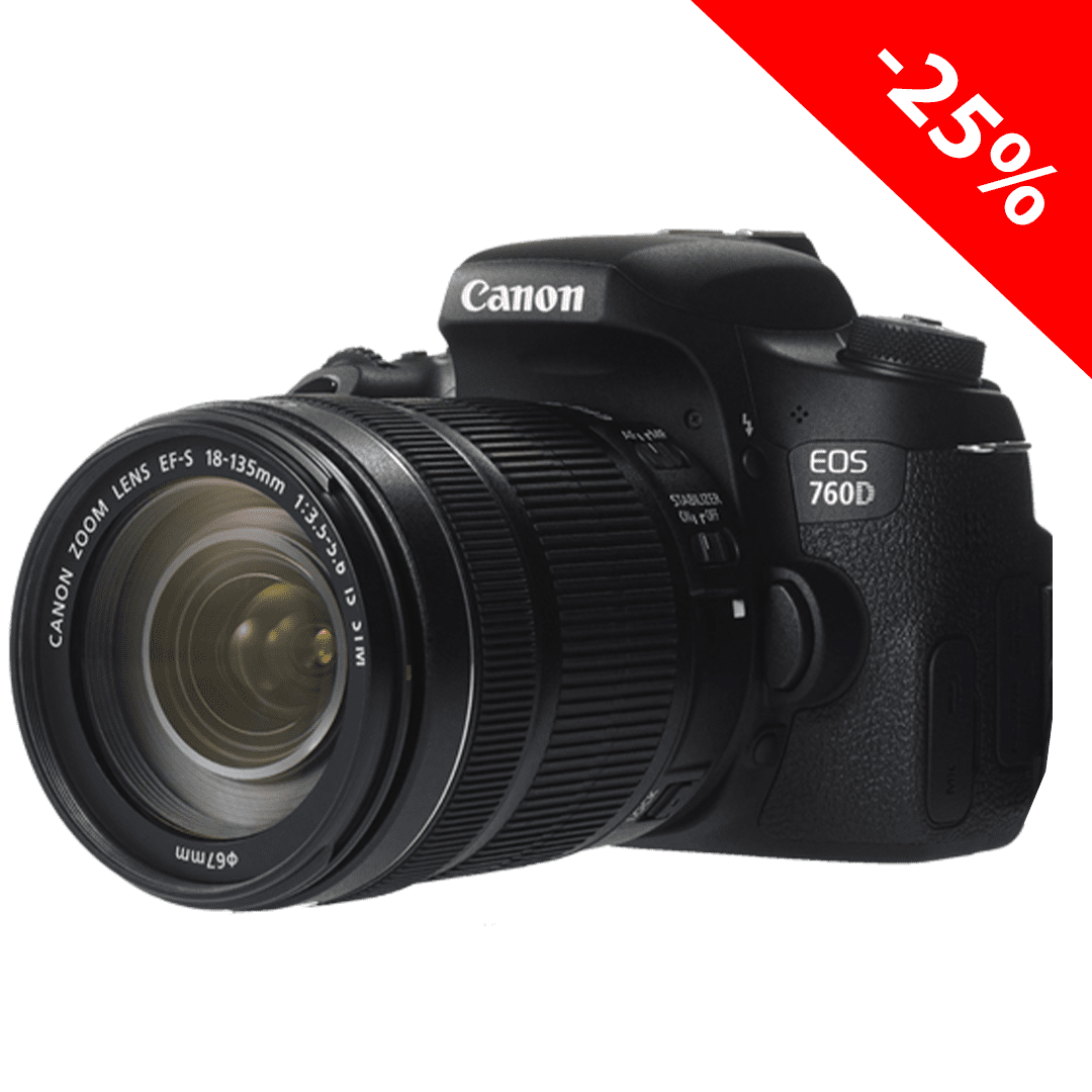 картинка АКЦИЯ! Canon EOS 760D + 18-55mm IS STM от магазина Rental+