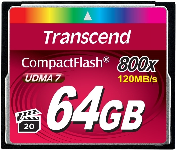 картинка Transcend CompactFlash 64GB 800x от магазина Rental+
